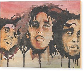 Marley Trio Wood Print