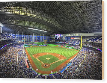 Marlins Park Wood Print by Shawn Everhart