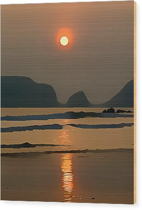 Marloes Sunset Wood Print by Gareth Davies
