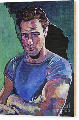Marlon Brando Wood Print by David Lloyd Glover