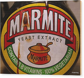 Marmite Wood Print by Michael Canning