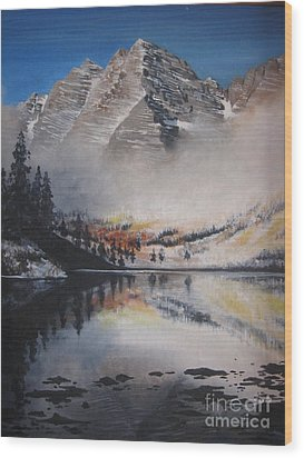 Maroon Bells Wood Print