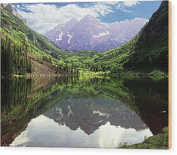 Wood Print featuring the photograph Maroon Bells  by Jerry Battle
