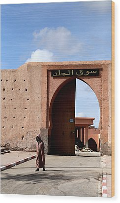 Wood Print featuring the photograph Marrakech 1 by Andrew Fare