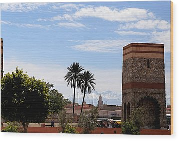 Wood Print featuring the photograph Marrakech 2 by Andrew Fare