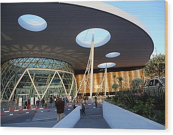 Wood Print featuring the photograph Marrakech Airport 2 by Andrew Fare
