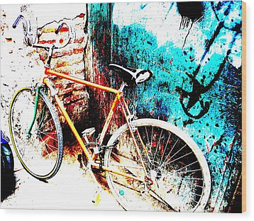 Marrakech Funky Bike  Wood Print