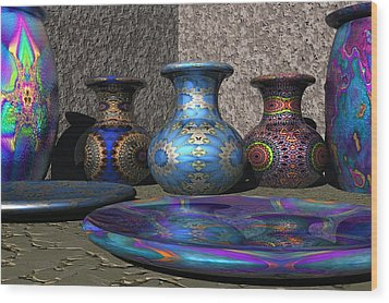 Marrakesh Open Air Market Wood Print by Lyle Hatch