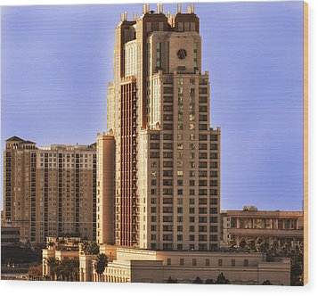 Wood Print featuring the photograph Marriott Of Tampa Bay by Linda Constant