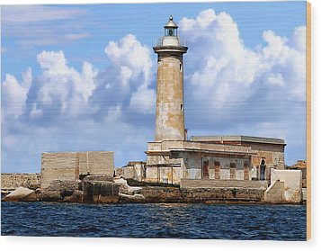 Marsala Lighthouse Wood Print