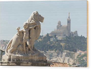 Marseille-saint-charles Statue, France Wood Print