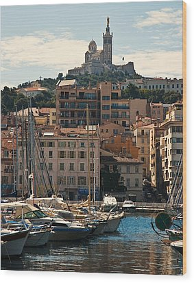 Wood Print featuring the photograph Marseilles by Ron Dubin