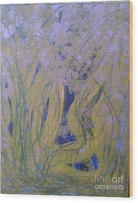 Marsh Moment Wood Print by Leslie Revels Andrews