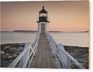 Marshal Point Glow Wood Print by Susan Cole Kelly