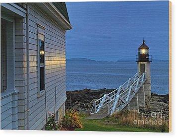 Marshall Point Lighthouse Wood Print by John Greim
