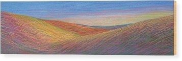 Marshall Sunset Wood Print by Lucinda  Hansen