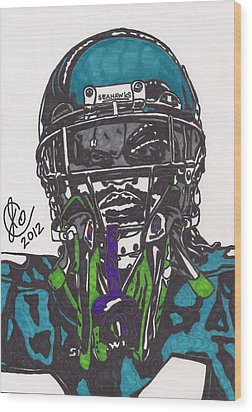Marshawn Lynch 1 Wood Print by Jeremiah Colley