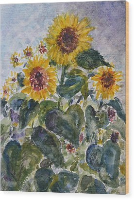 Martha's Sunflowers Wood Print by Quin Sweetman
