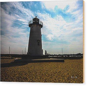 Wood Print featuring the photograph Martha's Vineyard Lighthouse - Massachusetts by Madeline Ellis