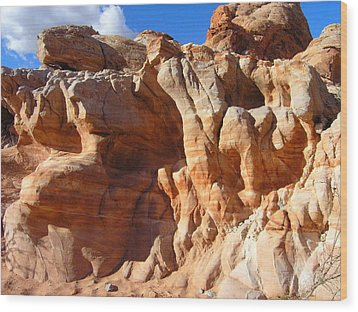 Martian Cliffs Wood Print by Silvie Kendall