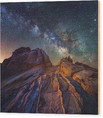 Wood Print featuring the photograph Martian Landscape by Darren White