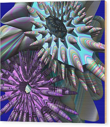 Martian Microbes Wood Print by Mark W Ballard