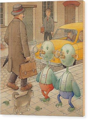 Martians Wood Print by Kestutis Kasparavicius