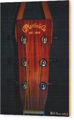 Martin And Co. Headstock Wood Print