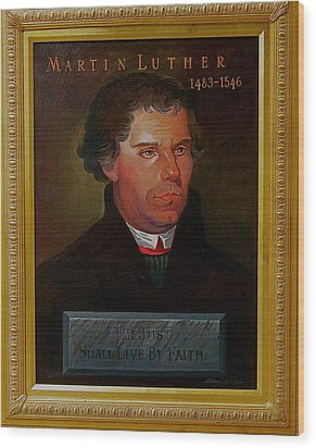 Martin Luther Wood Print by Alan Carlson