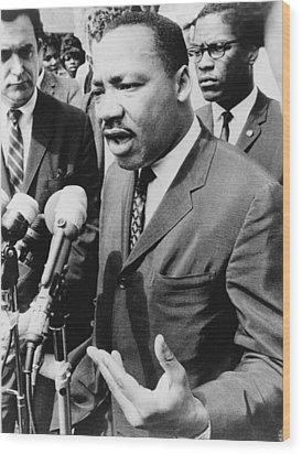 Martin Luther King, Jr. 1929-1968 Wood Print by Everett