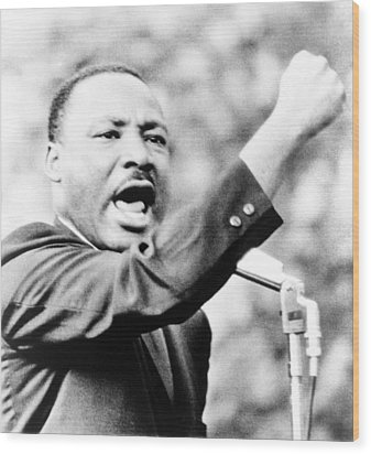 Martin Luther King, Jr., Gesturing Wood Print by Everett