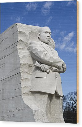 Martin Luther King Jr Memorial In Washington Dc Wood Print by Brendan Reals