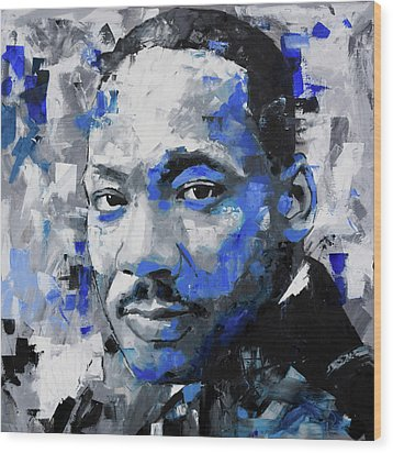 Wood Print featuring the painting Martin Luther King Jr by Richard Day