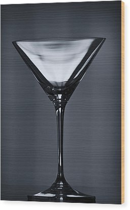 Martini Wood Print by Margie Hurwich
