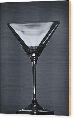 Martini Wood Print by Margie Hurwich