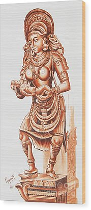 Marvel Of Stone  Wood Print by Ragunath Venkatraman