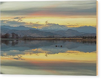 Wood Print featuring the photograph Marvelous Mccall Lake Reflections by James BO Insogna