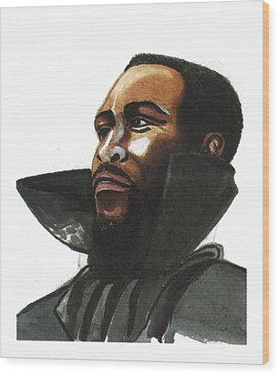 Marvin Gaye Wood Print