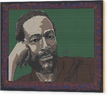 Marvin Gaye  Wood Print by Suzanne Gee