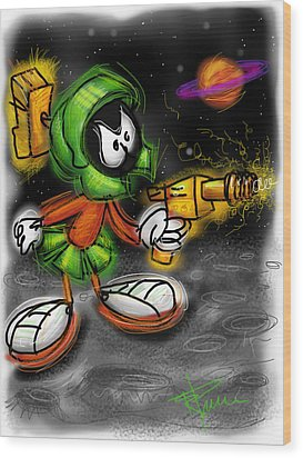 Marvin The Martian Wood Print