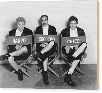 Marx Brothers - Harpo Marx, Groucho Wood Print by Everett