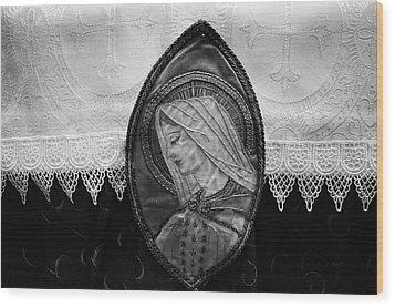 Mary Altar Cloth Wood Print
