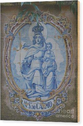 Mary And Jesus Wood Print