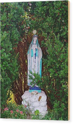 Mary And Orb Wood Print by Don Youngclaus