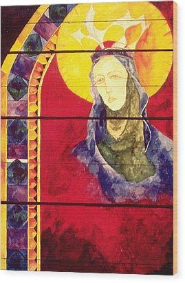 Mary Wood Print by Erika Brown