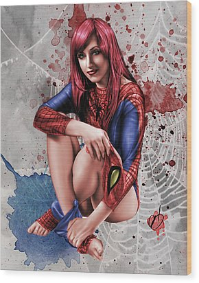 Mary Jane Parker Wood Print by Pete Tapang