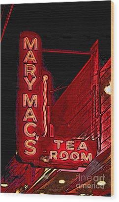 Mary Macs Resturant Atlanta Wood Print by Corky Willis Atlanta Photography