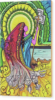 Mary Of Madgala Wood Print by Maggie Nancarrow
