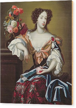 Mary Of Modena  Wood Print by Simon Peeterz Verelst