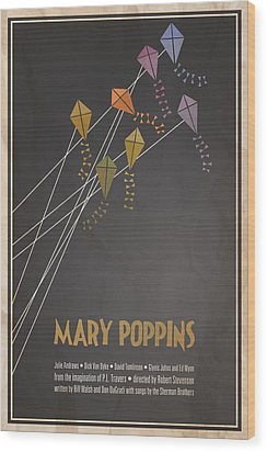 Mary Poppins Wood Print by Megan Romo